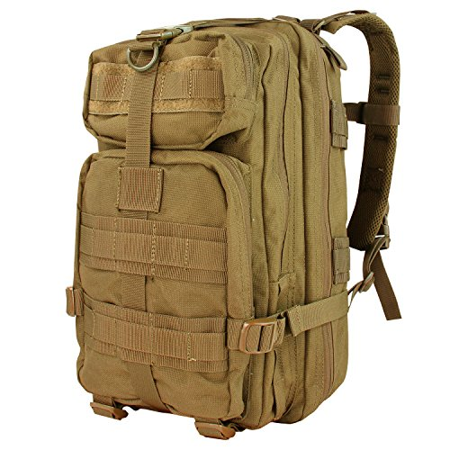 Condor Outdoor Products Compact Company Assault Pack, Coyote Brown (Outdoor Products External Frame Pack)