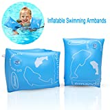 Swimming Inflatable Armbands,Edealing Floats Water Wings Arm Bands Training Aid Swim Pool for Baby (1-4 Years) (Blue)