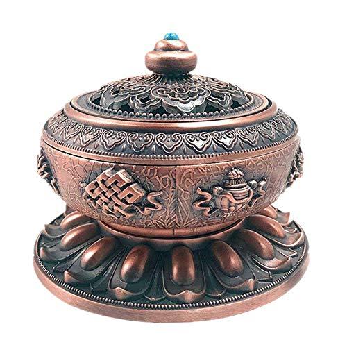 ANPOGOY Incense Holder Burner Tibet Lotus Copper Alloy/Incense Holder (Stick/Cone/Coil Incense)