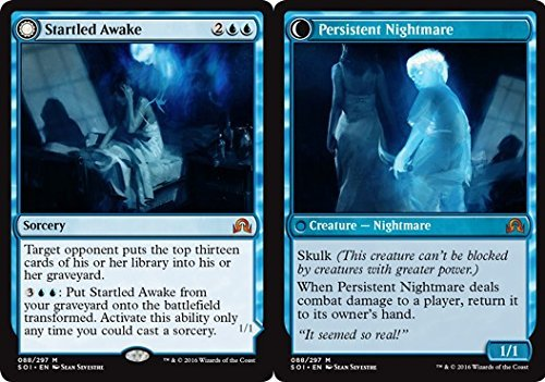Magic  the Gathering - Startled Awake    Persistent Nightmare (080 297) - Shadows Over Innistrad by Magic  the Gathering B01MQDXJSO Einzelkarten Deutsche Outlets | Einzigartig