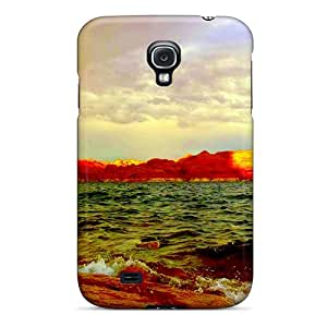 Hot Fashion IpJmhpK3804WKboX Design Case Cover For Galaxy S4 Protective Case (twin Rainbows)