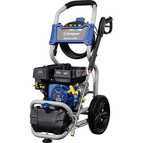 Gas Powered Pressure Washer with Soap Injection - 3100 PSI 2.5 GPM - One Gallon Reservoir - 30' SUPR-flex Hose - 5 Quick-Change Nozzles ()