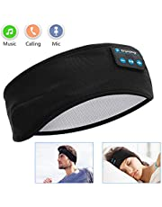 Sleep Headphones Bluetooth Voerou Wireless Headband Headphones Sports Sweatband with Ultra-Thin HD Stereo Speakers for SleepingWorkoutJoggingYogaInsomnia Travel Meditation