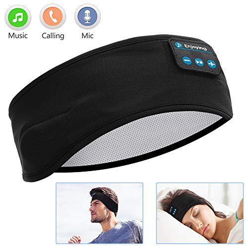 Sleep Headphones Bluetooth, Voerou Wireless Headband Headphones Sports Sweatband with Ultra-Thin HD Stereo Speakers for Sleeping,Workout,Jogging,Yoga,Insomnia, Travel, Meditation (Blocking Sleep Noise Earmuffs For)