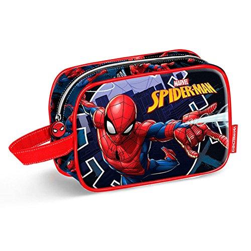 Karactermania Spiderman Hero-Teen Toiletry Bag, 21 cm, Blue -