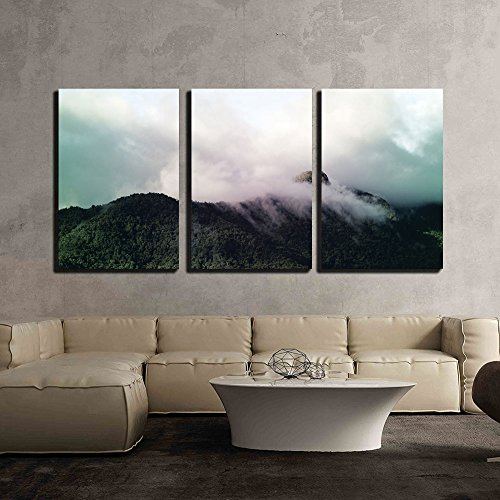 Landscape with Cloud over the Mountain Peaks x3 Panels