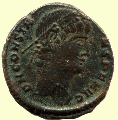 Roman coin, Ihnasyah Hoard, Constans, Nicomedia, 11759