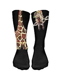 Funny Giraffe Long Neck Unisex Novelty Crew Socks Ankle Dress Socks Fits Shoe 50cm
