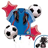 "5 Piece ""Soccer Balloon Mylar Bouquet Set"