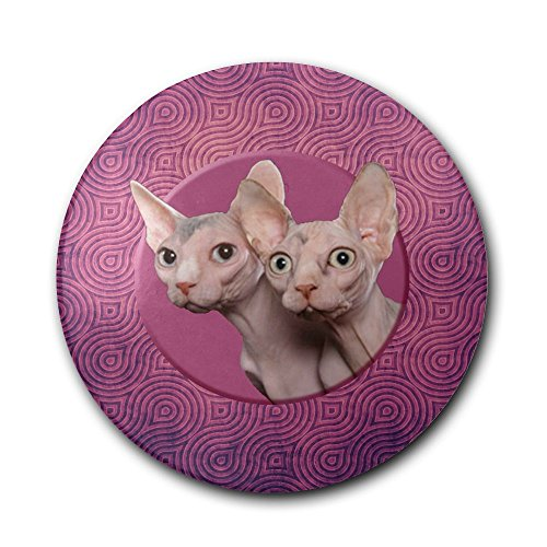 UJNB-Home Hairless Cat Wallpaper Ceramic Stone Coaster Coasters Set Cork Coaster For Mugs And Cups -