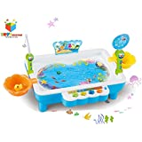 Toys Bhoomi 2 in 1 Colorful Magnetic Fishing Game Toy with The Music & Light for Kids Boys and Girls - Learn to Fish (Mixed Color)