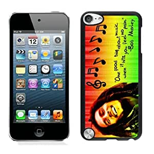 Bob Marley 01 Black Case Cover for iPod Touch 5 Grace and Cool Design