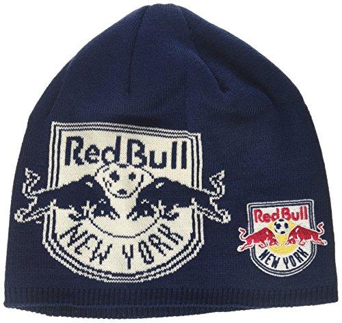 MLS New York Red Bulls Men's Glow in The Dark Knit Beanie, One Size, Navy