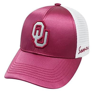 Top of the World Oklahoma Sooners TOW Women Dark Red White Satina Mesh Adjustable Strap Hat Cap by Top of the World