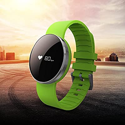Bluetooth 4.0 Waterproof Smart Bracelet Bands Sport Watch Fitness Tracker Waistband with Heart Rate Monitor for IPhone Android Smartphone