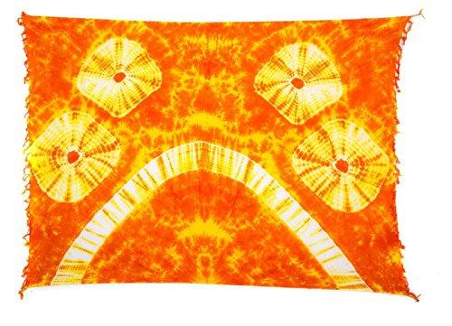 50 Modelo Sarong Pareo Playa falda cruzada la bufanda toalla opacp TYE DYE Orange Gelb