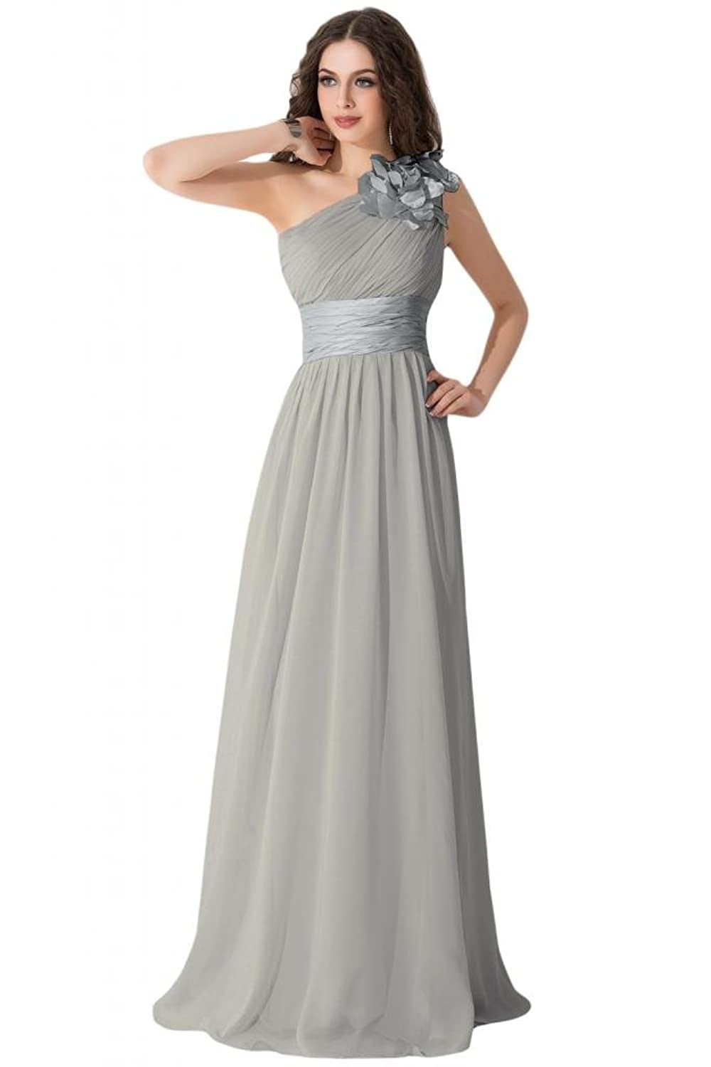 Sunvary Graceful Inclined-shoulder Evening Dresses Party Gowns Maxi Bridesmaid Dress