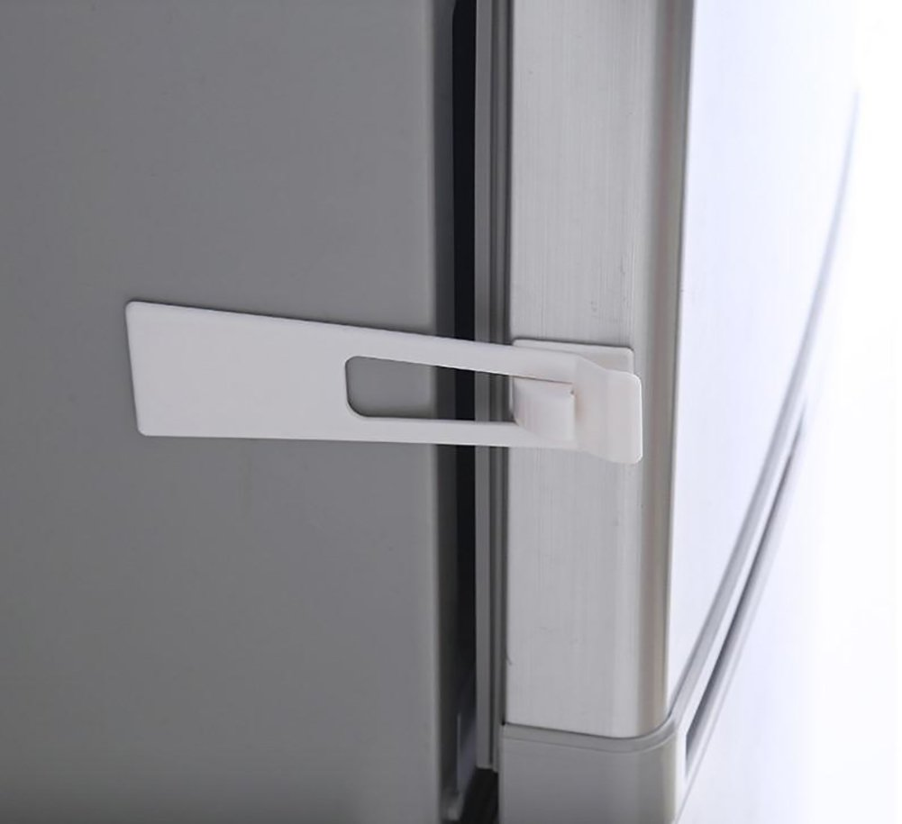 BTMB Child Safety Cabinet Locks Trapezoidal Baby Proofing Lacthes with Adhesive Tape,Pack of 12