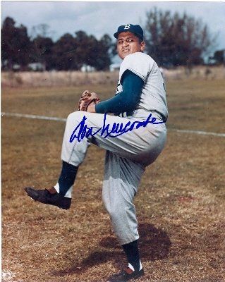 Autograph Warehouse 81547 Don Newcombe Autographed 8 x 10 Photo Brooklyn Dodgers Image No .2 Autographed Dodgers 8x10 Photo