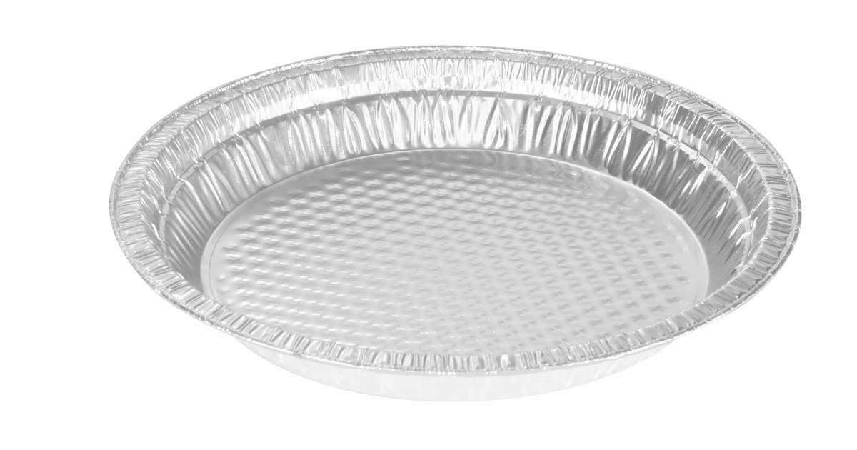 KitchenDance Disposable Aluminum Quilted Bottom Pie Pans (50, 9'' Rim to Rim)