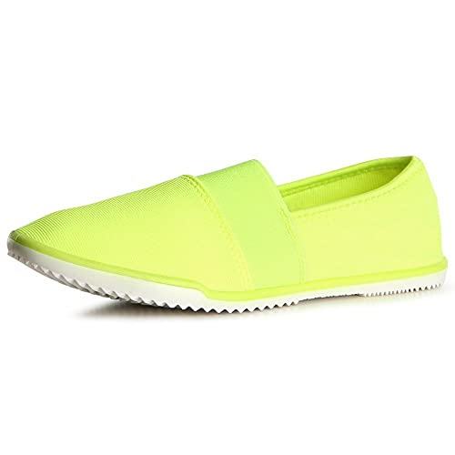 topschuhe24 1121 Damen Slipper Sneaker Ballerina Wasserschuhe, Farbe:Neon  Gelb;Größe:36