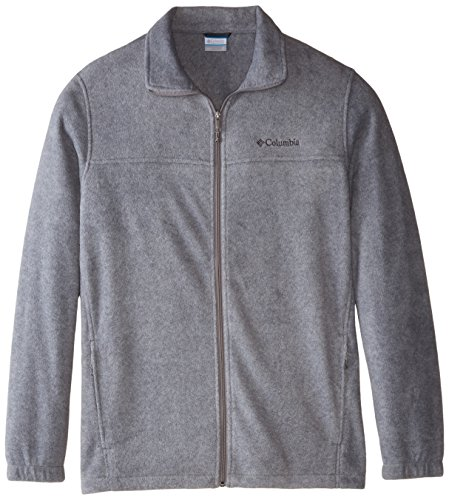 Columbia Men's Tall Size Steens Mountain Full Zip 2.0 Soft Fleece Jacket, Light Grey Heather, 3X