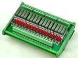 ELECTRONICS-SALON Slim DIN Rail Mount DC24V Source/PNP 16 SPST-NO 5A Power Relay Module, PA1a-24V