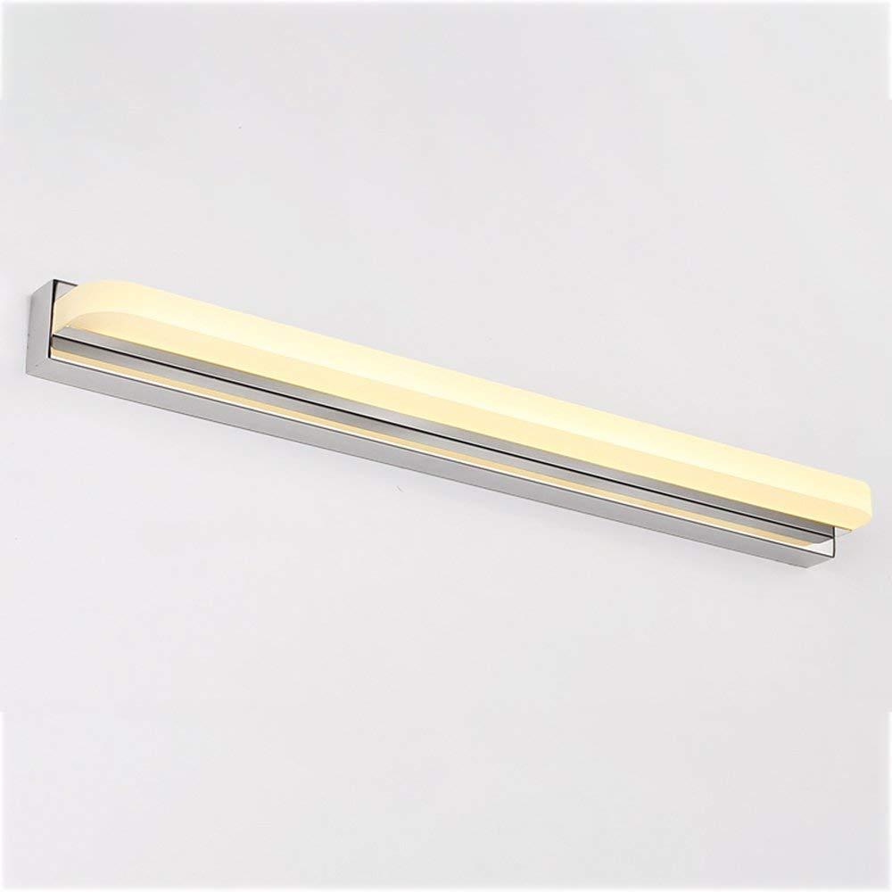 Giow Bad Wandleuchte Spiegel Frontleuchte Wasserdicht Anti-Fog Edelstahl Weiß Bad Wandleuchten (Farbe  Warm Light)