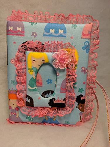 Princess Fabric Custom Photo Album for baby girl - Holds 100 4x6 Photos - Handmade
