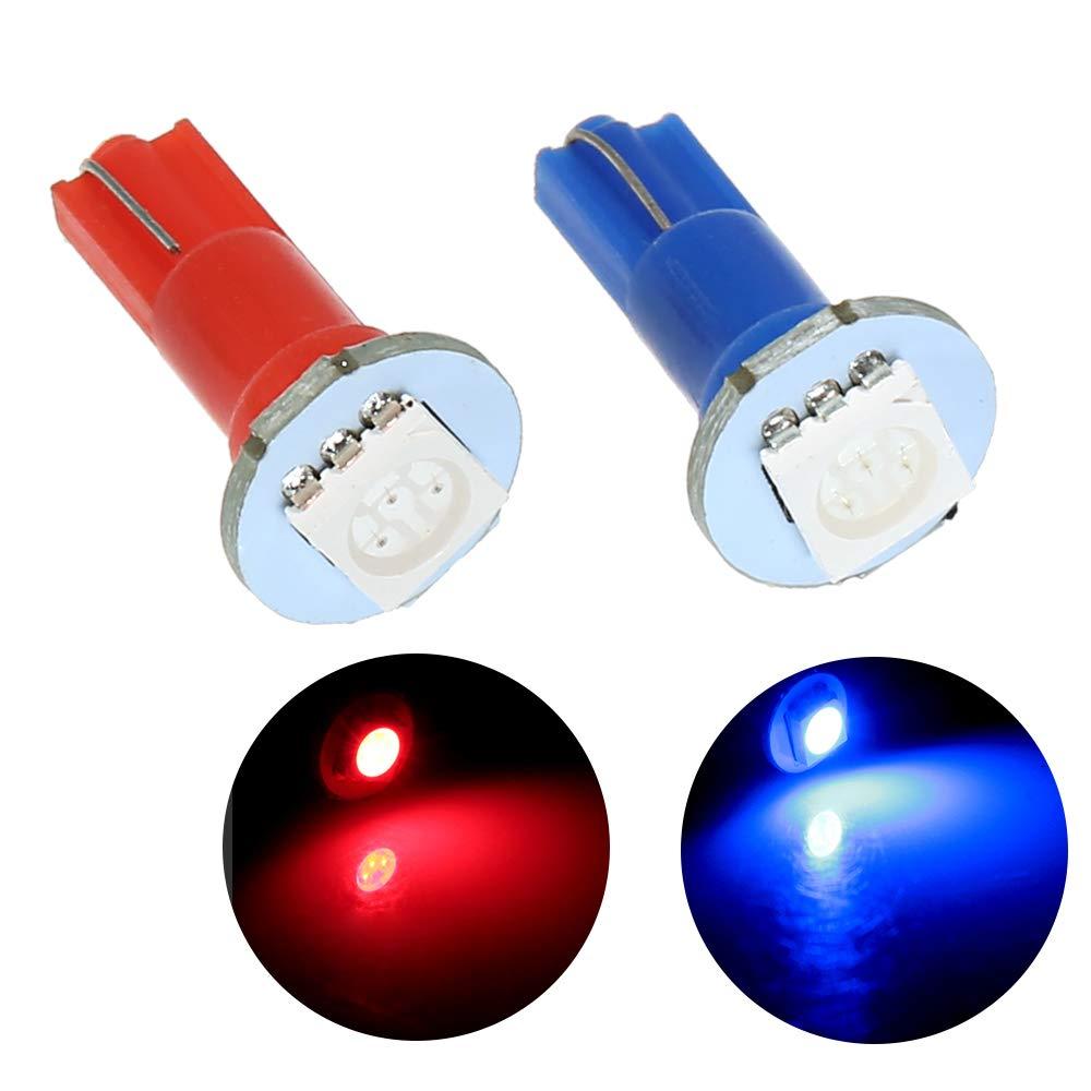 12 V Cruscotto Lampadina T5 LED 5050 SMD Cruscotto blu