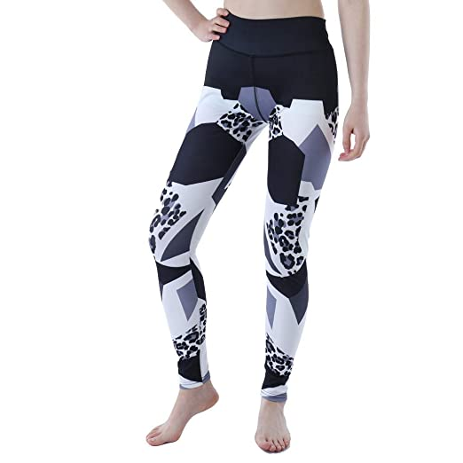 NREALY Pantalones Womens LadiesPrinted Joint Sports Running ...