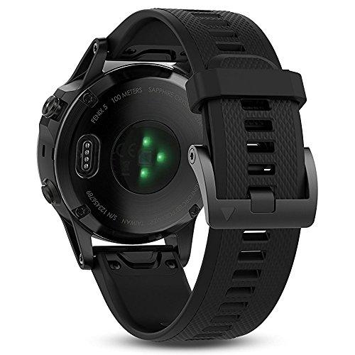 Garmin Fenix 5 GPS Multisport Watch Ultimate Bundle | Includes Garmin Fenix 5 Watch (47mm), HD Glass Screen Protector, Wearable4U Power Bank, Wearable4U Car / Wall USB Charging Adapters | by Wearable4U (Image #2)