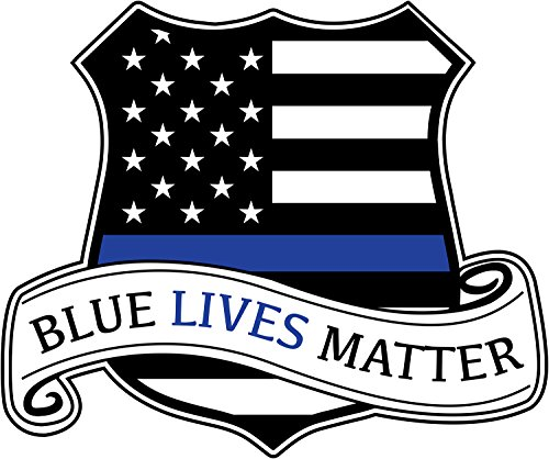 Police Window (Blue Lives Matter Sticker Vinyl 3