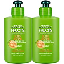 Garnier Hair Care Fructis Sleek & Shine Intensely Smooth Leave-In Conditioning Cream, 2 Count