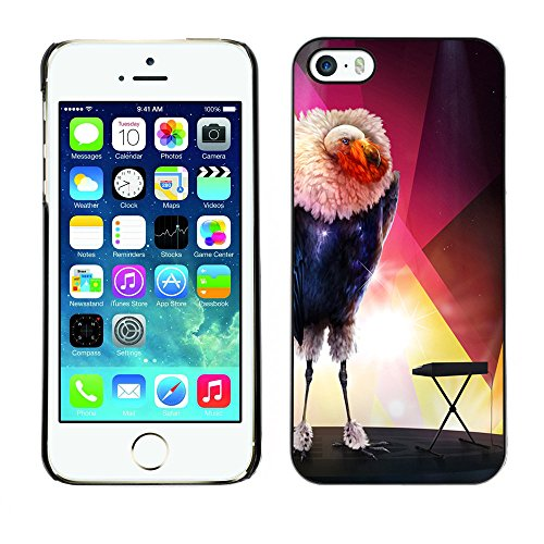 Omega Case PC Polycarbonate Cas Coque Drapeau - Apple iPhone 5 / 5S ( The Glamorous Bird )