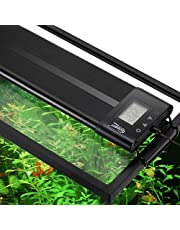 Hygger Auto On Off 24-30 Inch LED Aquarium Light Extendable Dimmable 7 Colors Full Spectrum Light Fixture for Freshwater Planted Tank Build in Timer Sunrise Sunset
