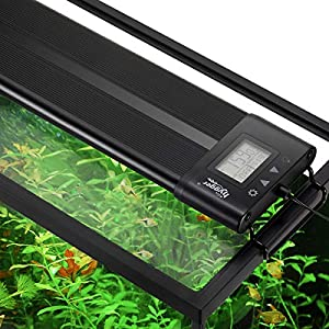 Hygger Auto On Off 24-30 Inch LED Aquarium Light Extendable Dimable 7 Colors Full Spectrum Light Fixture for Freshwater…