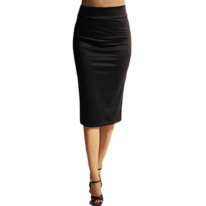 446070ab9f32 Image Unavailable. Image not available for. Color: Azules Women's Below the Knee  Pencil Skirt ...
