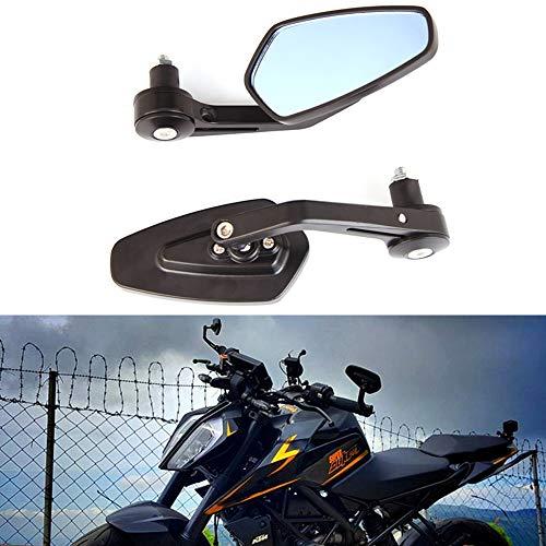 7/8 22mm Negros Espejos de manillar de la motocicleta moto de aluminio universal espejos laterales espejos retrovisores laterales para Scooter Cruiser moto deportiva Chopper
