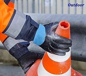 jard/ín c/álidos Forro Polar t/érmico construcci/ón c/ómodos para Invierno 2 Pares Nieve Guantes de Trabajo DIO para Clima fr/ío Hielo Exteriores Actividades