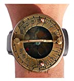 MAH Wrist Watch Sundial Compass with Leather Strap. C-3117-P