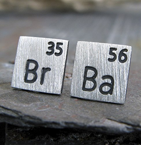 Amazon scientific periodic table elements earrings brushed scientific periodic table elements earrings brushed sterling silver post studs tv show inspired jewelry urtaz
