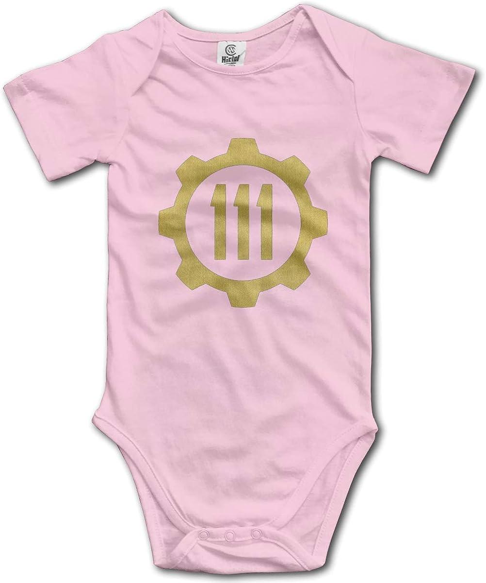 M Morbo Fall Out Vault 111 Cute Baby Boys Girls Onesie Bodysuit Infant Romper Jumpsuit