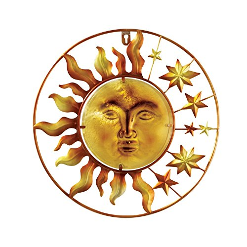 Celestial Glass Wall Decor, Sun