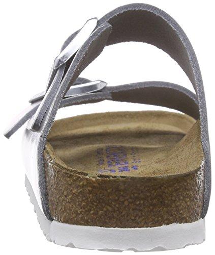 Birkenstock Arizona Narrow Fit - Liquid Silver Leather 1000062 Womens Sandals 37 EU by Birkenstock (Image #2)