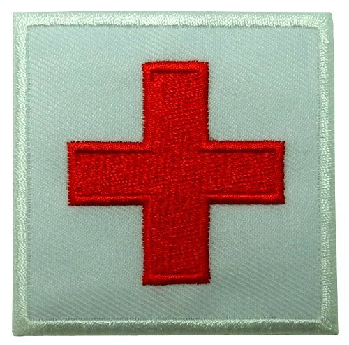 (Red Cross Medic DIY Applique Embroidered Sew Iron on Patch MD-001)
