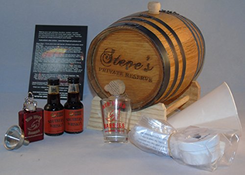 2 Liter Custom Engraved American White Oak Flavoring Gift Set (Southern Whiskey) by Red Head Barrels (Image #1)