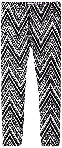 Derek Heart Big Girls' Printed Yummy Leggings, Optic White, Medium/10/12