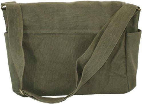 Olive Green Original Heavyweight Classic Military Messenger Bag with Army  Universe Pin 22f5b7f5e7b
