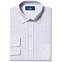 Buttoned Down Men's Classic Fit Button-Collar Pattern Non-Iron Dress Shirt With Pocket